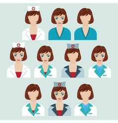 Set of medical characters vector image vector image
