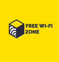 sign and symbol free wireless internet wi-fi vector image