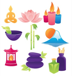 Spa and asian environment logos vector