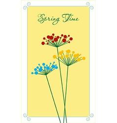 Springtime flower vector