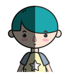 tender boy child with pijama and hairstyle vector image vector image