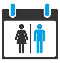 Water closet calendar day toolbar icon vector