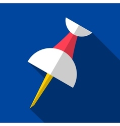 Push pin origami flat icon vector
