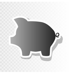 Pig money bank sign  new year blackish vector