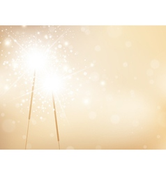 Sparklers Golden Background vector image