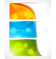 Set of colorful bannners vector