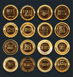 Luxury golden design elements collection 2 vector