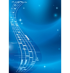 Bright blue music background with gradient vector