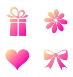 Happy valentine icons vector