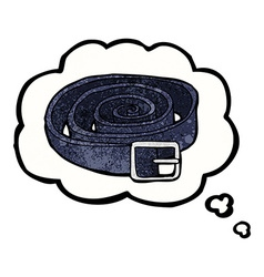 Cartoon leather belt with thought bubble vector