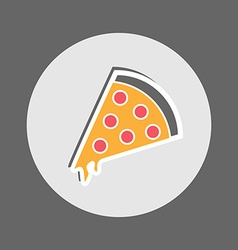 Pepperoni pizza flat icon vector