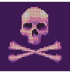 Skull and crossbones collected from pixels on vector