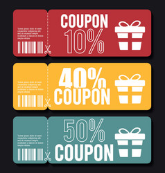 Coupon design sale icon shopping concept vector