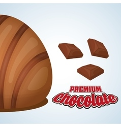 Chocolate design sweet icon dessert concept vector
