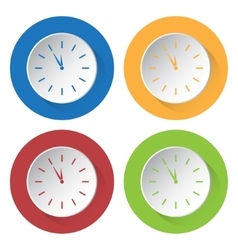 Set of four icons - last minute clock vector