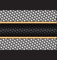 abstract metal weave black gold line vector image