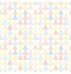 Abstract pattern of triangles light pastel vector image