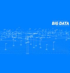big data blue plot visualization vector image vector image