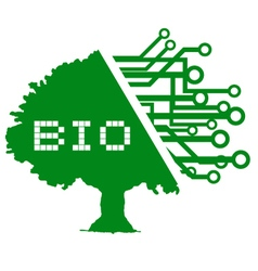 Bio tree symbol vector image