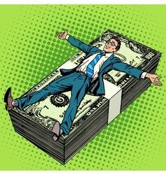 Business financial success concept businessman vector