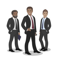 business team of employees and the boss vector image vector image