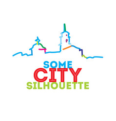 City skyline silhouette vector