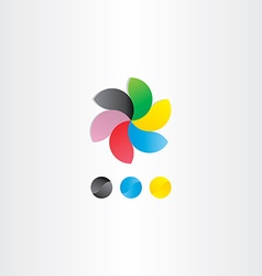 colorful business logotype icon design vector image