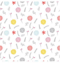 cute floral seamless pattern with flowers elegant vector image vector image