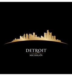 Detroit Michigan city skyline silhouette vector image