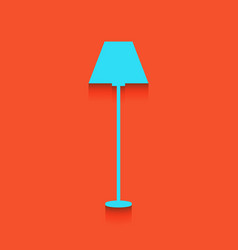 Lamp simple sign whitish icon on brick vector