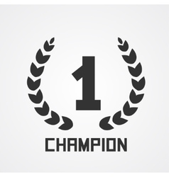 Laurel wreath for champion vector image