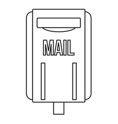 mail box post icon outline style vector image vector image