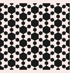 monochrome seamless pattern with hexagons vector image vector image