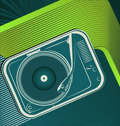 retro turntable vector image vector image