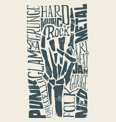 Rock for print on t-shirts vector