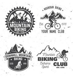 Set of mountain biking clubs vector
