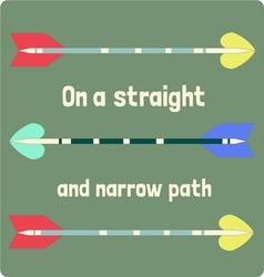 Straight and narrow vector