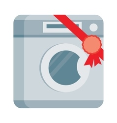 Washing machine in flat design vector