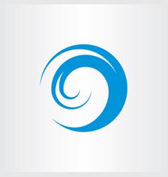 Water wave logo symbol vector