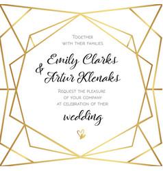 wedding invitation invite card design with vector image