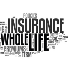 Whole life insurance and why people choose it vector
