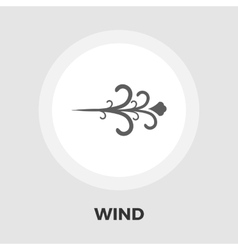 Wind icon flat vector image vector image