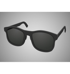Isolated black realistic sunglasses vector