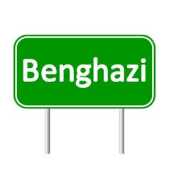 Benghazi road sign vector