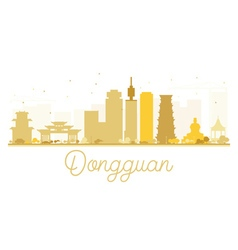 Dongguan city skyline golden silhouette vector