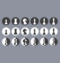 Chess figures icons vector