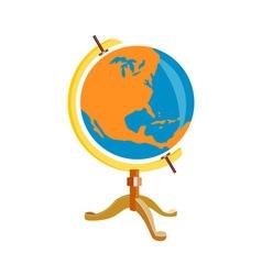 Globe america retro vector