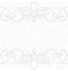 Background with ornamental curly frame in retro vector