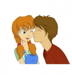 Teenage boy and girl vector