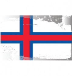 Faeroe islands national flag vector